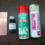 Ацетон и средства для смывки и очистки контактов от окислов