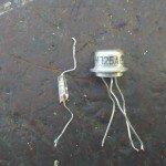 Сгоревшие детали - диод и транзистор МП 25 А в охранной сигнализации Сигнал СМ